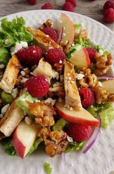 Fresh Raspberry Chicken Salad  with Raspberry Vinaigrette