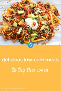 Low-carb doesn't have to mean low flavor. From mini pepper nachos to spaghetti squash burrito bowls, you have to try these 10 delicious low-carb meals this week! See healthy recipes here.
