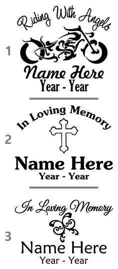 Vinyl Decal for Car Window - In Loving Memory Of by LeslieScraps on Etsy