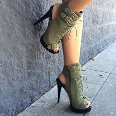 Womens High Heel Sandals Boots Strap Belt Buckle Ladies Shoes Upper Material: Artificial PU Sole M. Hot Shoes, Crazy Shoes, Me Too Shoes, Zapatos Shoes, Shoes Heels, Bootie Boots, Shoe Boots, Ugg Boots, Frauen In High Heels