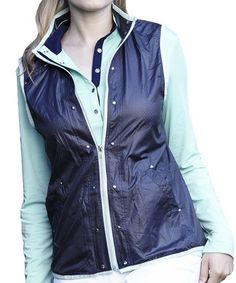 Look what I found on #zulily! Navy & Blue Color Block Elite Jacket by GGblue #zulilyfinds