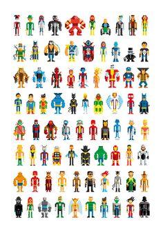 PIXEL HEROES Art Print | Society6