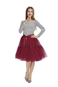 Petticoat 5-Layer Women's Tulle Skirt 1950s Vintage Crino...