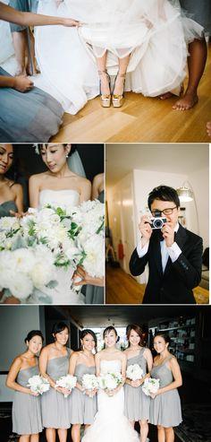 JCrew bridesmaid dresses=LOVE. I like the flowers also.