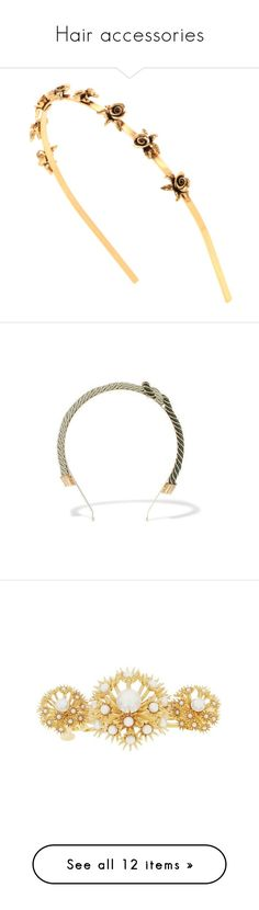 """""""Hair accessories"""" by pat-nicolle on Polyvore featuring accessories, hair accessories, tops, silk top, flower print top, dolce gabbana top, embellished top, floral tops, rosantica and green"""