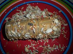 DIY: TP roll bird/squirrel feeders.