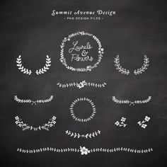 Laurel and Flowers design elements - for personal or photography use - INSTANT DOWNLOAD. $10.00, via Etsy.