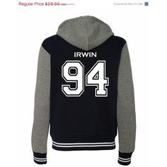 10% Off Ashton Irwin 5 SOS Varsity Ladies Sweatshirt Jacket (335 ZAR) ❤ liked on Polyvore