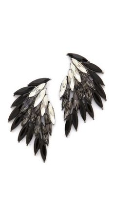 Angel-winged earrings with a dark touch.
