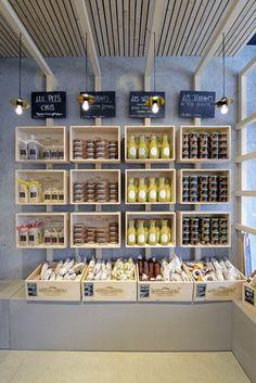 Bakery Shop Design, Retail Store Design, Cafe Design, Restaurant Design, Tante Emma Laden, Regal Design, Salon Interior Design, Store Interiors, Fruit Displays