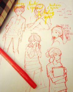 Anime sketches- tootokki ʕ •ᴥ•ʔ