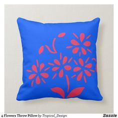 Floral Pillows, Diy Pillows, Throw Cushions, Custom Pillows, Decorative Pillows, Diy Couch, Bedding Master Bedroom, Tropical Design, Cozy Bed