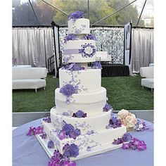 Vanilla Bake Shop - Lavender Romance and Bling Wedding Cakes