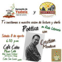 Sábado de Sala de Lectura de Hermanita de Ysabela en Café Cabo. Poesía y café