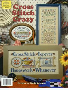 Cross Stitch Crazy preview - free cross stitch patterns pinned separately
