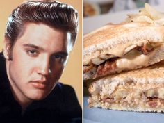 Elvis' sandwich: Grilled peanut butter-banana-bacon sandwich.  I'm thinking of adding a fried egg.