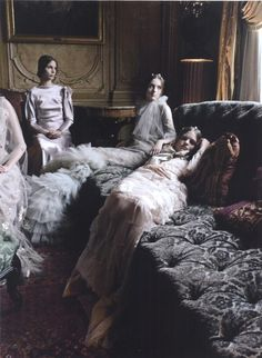 Deborah Turbeville - Photographer  Brenda Kranz - Model  Mirte Maas - Model  Vasilisa Pavlova - Model