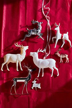 It's not all about Rudolph. The famous red-nosed charmerthe creation of a copywriter for Montgomery Ward & Co.didn't prance onto the holiday scene until Reindeer Ornaments, Vintage Christmas Ornaments, Christmas Bows, Christmas Games, Christmas Carol, All Things Christmas, Handmade Christmas, White Christmas Trees, Shabby Chic Christmas