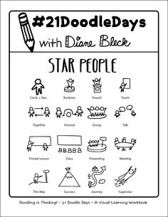 - Lesson 21: Star People - 21 Doodle Days - Learn How to Doodle - Art by: Diane Bleck of The Doodle Institute