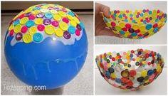 Cómo hacer un bowl con botones Nada más bonito que aprender hacer tus propios bowl caseros hecho de botones que ya no necesitas una bonita forma de reciclar
