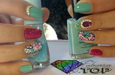 Turquoise, Nails, Rings, Beauty, Jewelry, Fashion, Finger Nails, Moda, Jewlery