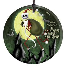 Nightmare Before Christmas Santa Jack Glass Print - StarFire Prints - Nightmare Before Christmas - Holiday Ornaments at Entertainment Earth