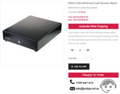 Point of Sale in NEXA CB710B Small Cash Drawer Black. QuickPOS selling at 36% OFF on Actual price..!  http://www.quickpos.com.au/cash-drawer-nexa-cb710b