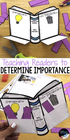 These determining importance reading activities are great for teaching reading strategies in elementary grades. They are hands on and interactive for your growing readers. Perfect for guided reading Making Connections Activities, Reading Comprehension Strategies, Reading Passages, 3rd Grade Reading, Guided Reading, Reading Groups, Reading Activities, Classroom Activities, Adonai