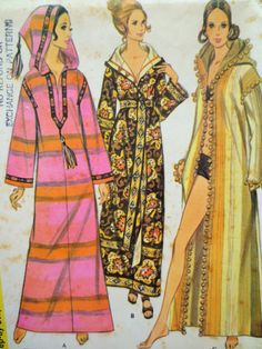 Vintage McCall's 2377 Sewing Pattern Burnoose by sewbettyanddot