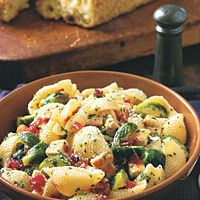 Pasta Shells with Chicken and Brussels Sprouts by Food & Wine
