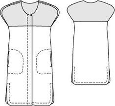 caftan dress via burda patterns