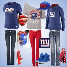 BLEED. BLUE. by caitlin-smith126 on Polyvore  NY Giants <3