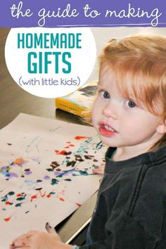 Making homemade gifts for friends and family for the holidays can be chaotic. With this guide, making homemade gifts will be a more controlled chaos. Creative Homemade Gifts, Homemade Gifts For Friends, Gifts For Kids, Toddler Crafts, Toddler Activities, Activities For Kids, Handmade Birthday Gifts, Handmade Gifts, Christmas Crafts For Adults