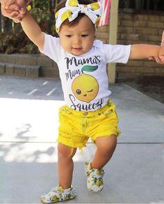 Sunshine Shorties Custom Distressed Dyed Denim Yellow Jean Shorts Baby Toddler Girls