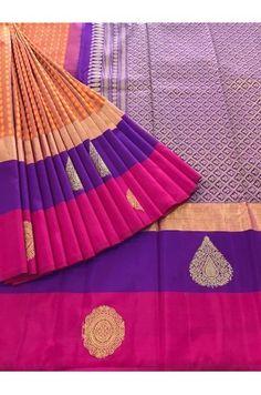 Exquisite Jacquard Kanjeevaram Silk Saree Product Code: AC205107 Availability: 1 Price: ₹14,450