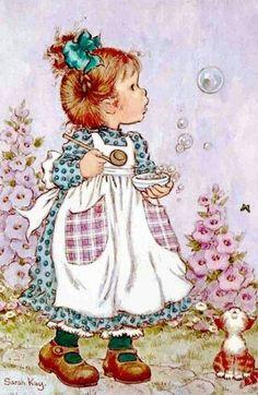 Vintage Postcard Sarah Kay by CuteEyeCatchers on Etsy Sarah Key, Holly Hobbie, Vintage Cards, Vintage Postcards, Vintage Pictures, Cute Pictures, Happy Merry Christmas, Christmas 2019, Christmas Pics