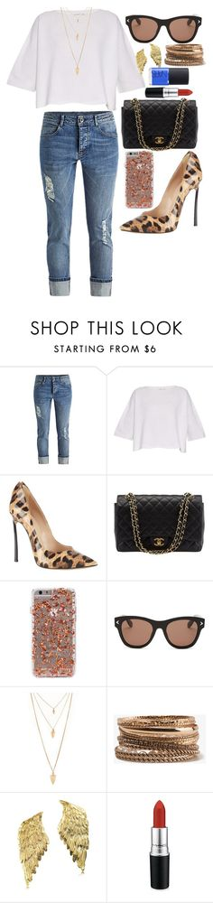 """""""Untitled #11"""" by irisaparecida on Polyvore featuring beauty, Helmut Lang, Casadei, Chanel, Givenchy, Forever 21, Bernard Delettrez, MAC Cosmetics and NARS Cosmetics"""