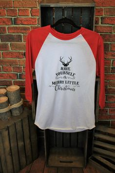 red raglan merry little xmas. Jane Clothing, Boutique Clothing, Merry Little Christmas, Graphic Tees, Red, Clothes, Fashion, Outfits, Moda