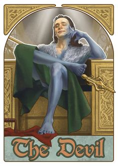 Fan Art: The Avengers are Surprisingly Fitting as Cool Tarot Cards  The Devil: Loki - Pan Key words: Ego, Loss, Error, Addiction, Illusion, Disruption, and Enslavement