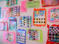 tissue paper bled paper and paper weaving
