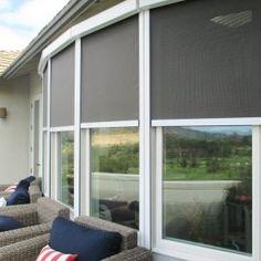 Solar Powered Exterior Window Shades