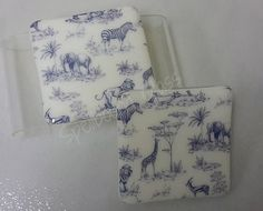 Blue print safari coasters Safari, Coasters, Paper, How To Make, Blue, Design, Coaster
