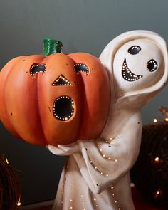 Treat family and friends to a spirited Halloween display with this outdoor decoration. Available on Balsam Hill today. Halloween Displays, Halloween Decorations, Halloween Ideas, Happy Halloweenie, Ghost Decoration, Balsam Hill, Bethany Lowe, Halloween Celebration, Halloween Season