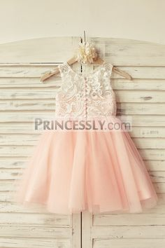 This dress is made of ivory lace on the outside with pink princess tulle skirt; The back with decorative ... Shop now use code NYC2018 for 9% off ONLY today!