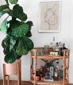"""Visit our internet site for even more details on """"bar cart decor inspiration"""". It is actually an outstanding place to learn more. Bar Cart Styling, Bar Cart Decor, Diy Bar Cart, Bar Deco, Boho Bar, Retro Home Decor, Bar Furniture, Furniture Design, Plywood Furniture"""