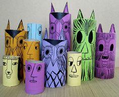 Painted Carboard Tubes by Norfolk Oak, via Flickr