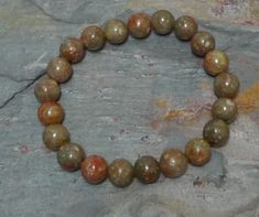 AUTUMN JASPER  Stretchy elastic bracelet. All natural, undyed and untreated semi-precious gemstones. // Grizzly Meadows Jewelry