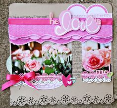 Beautiful layout made with #GlueArts Adhesives and #Little Yellow Bicycle products. Designed by @Leslie Ashe