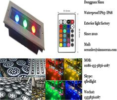 smart Remote Control 3 w rgb linear lighjt   from Dongguan simu hardware lighting co,ltd. Auto change color or RF remote control color change or infrared control Smart color change or Wifi control or DMX Control led outdoor lighting