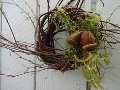 Acorn Wreath Small Wreath Birch Wreath Twig Wreath Natural Wreath Fall Wreath Candle Ring Hostess Gift Home Decor Wall Decor Acorn Wreath, Twig Wreath, Boxwood Wreath, Small Wreath, Moss Wreath, Thanksgiving Wreaths, Autumn Wreaths, Wreath Fall, Thanksgiving Decorations